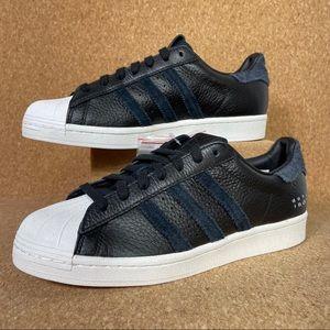 Adidas Originals Superstar Black Off White Blue